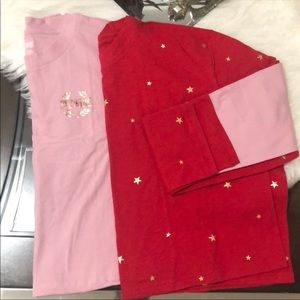 Bundle two PINK long sleeve sweater. Size L